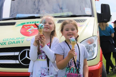 Photo of young carers enjoying an ice cream